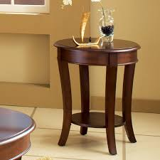interior steve silver troy round cherry wood end table hayneedle elegant with drawer 7