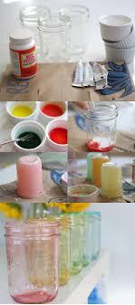 DIY Tinted Mason Jars in Rainbow