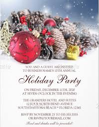Sample Of Christmas Party Invitation Holiday Dinner Invitation Template Magdalene Project Org