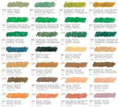 Sennelier Artists Oil Pastels Singles Colour Chart