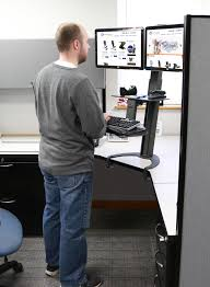 standing desk for tall person dual monitor adjule 12