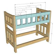 interesting wood bunk bed plans with ana white camp style bunk beds for american girl or