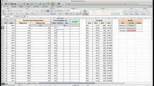 how to calculate fuel consumption by using microsoft excel