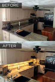 adding cabinet lighting. Before And After Adding Under Cabinet Lighting To A Kitchen E