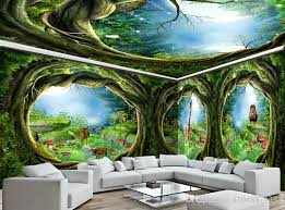 3d wall murals wallpaper custom picture mural wallpaper dream animal world forest house wall painting 3d tv background wall home decor free high resolution