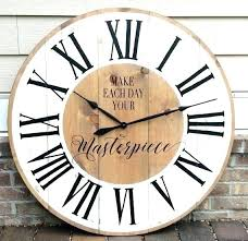 extra large vintage wall clock contemporary clocks oversized retro antique uk lar