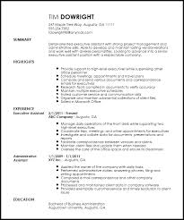 Resume Template Executive Assistant Free Professional Executive Assistant Resume Template