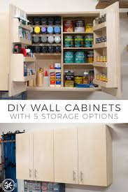 how to build diy wall cabinets with 5 storage options