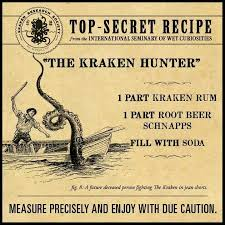 Squeeze lime juice into shaker as well (the amount is up to your taste) shake vigorously. 27 Kraken Recipes Ideas Kraken Rum Rum Recipes Rum Drinks