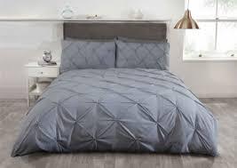 bed linens sets silver grey pintuck