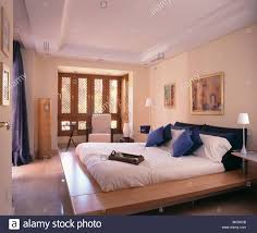 Spanish Bedroom Furniture Blue Spanish Country Bedroom With White Curtains On French Windows