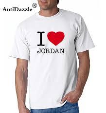 Antidazzle I Love Jordan Mens Short Sleeve T Shirt Michael