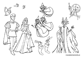 Small Picture Sleeping Beauty Coloring Pages Coloring Pages For Kids Disney
