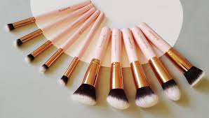 kabuki makeup brush set foundation powder blush concealer contour brushes perfect for liquid cream or mineral s 10 pc collection with premium