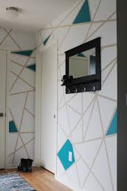 diy painters tape accent wall 5