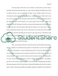 Explication Essay Examples Explication Of A Song Essay Example Topics And Well Written Essays