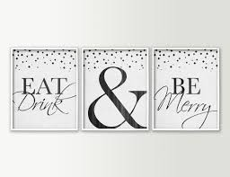 on food and drink wall art with eat drink be merry dining room wall decor modern dining