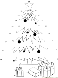 Christmas Tree Decorating and Gifts - Connect the Dots for Kids
