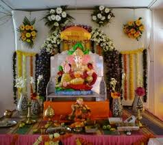 inspiring picture of ganpati makar decoration ideas temple