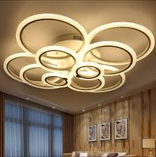 amazing of large flush mount light fixtures white modern acrylic led ceiling light fixture ring re