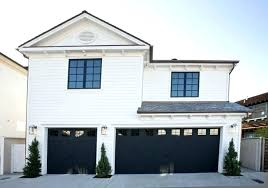 A Black Garage Doors Great White House Remodel With On Gray Gara   Brick Home Lowes