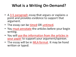 writing on demand guidelines and introduction what is a writing  what is a writing on demand