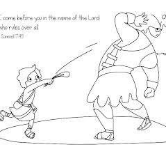David And Goliath Coloring Pages For Preschoolers And Coloring Page