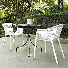 white outdoor dining settings creative of modern white outdoor chairs stacking dining chair white pottery barn