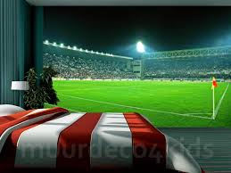 Voetbal Behang Stadion 3 Xl 368x254cm