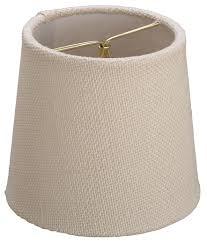 ivory burlap drum chandelier shade 5 w
