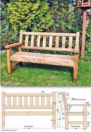 build garden bench outdoor furniture