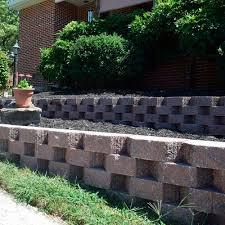 solid concrete block terrace