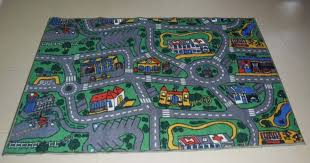 road track kids play mat