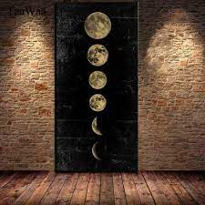 size eclipse of the moon wall art