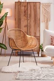 Becca stool bamboo furniture modern bamboo Forooshino Lillian Rattan Chair Synchronizing Dining Lounge Chairs Urban Outfitters