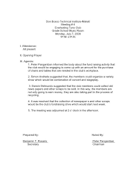 Examples Of Minutes Taken At A Meeting Sample Minutes Of The Meeting Good Essay Sample Resume