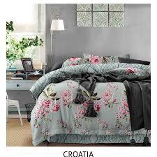 100 polyester cotton fl duvet cover set elegant bedding sets croatia style bed clothes manufacturers