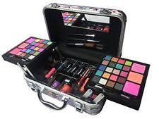 carry all travel trunk train case make up kit gift set artist design with handle