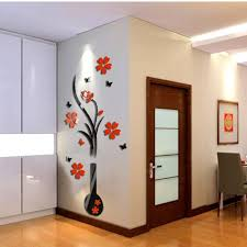 45x150cm large wall stickers 3d romantic rose flower wall sticker removable decal room vinyl for home bedroom decoration ey11