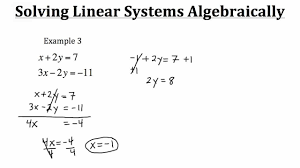 solving linear systems algebraically