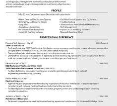 Electrical Technician Sample Resume Best of Resume For Electrician Template Examples Electrical Technician