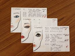 facecharts for 3 looks 001 mac wedding trousseau experience