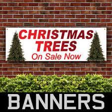 Christmas Trees Pvc Banner Printing Pub Shop Xmas On Sale Now Signs