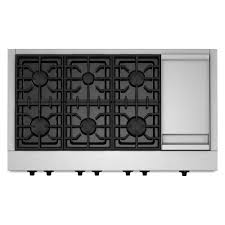 gas stove top with griddle. Gas Cooktop In Stainless Steel With Griddle And 6 Burners Including Two Stove Top S