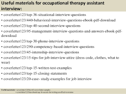 12 useful materials for occupational therapy occupational therapy cover letter
