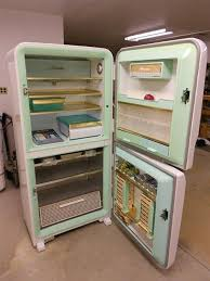 vintage kitchen appliance retro appliances: heres a rare vintage appliance find a  amana stor more refrigerator that has never been used the fake food packaging is even still in the freezer