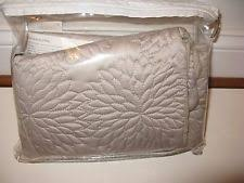 2 DKNY Chrysanthemum Quilted King Pillow Shams - Gray | eBay & 2 DKNY Chrysanthemum Vintage Floral Taupe Quilted Standard shams Adamdwight.com