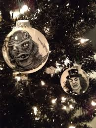 From The Bride topper down to the assortment of horror movie themed  ornaments. You can purchase them through various places like Hallmark,  Spencer's Gifts, ...
