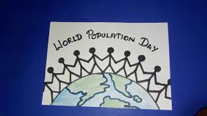 Draw Population Day Poster How To Draw World Population Drawing Step By Step