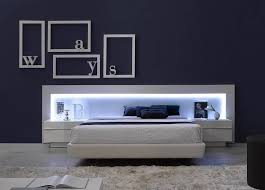 modern platform beds with lights. Unique Beds Spain Made Ultra Modern Platform Bed W LED Headboard U0026 Upholstered  FrameK In Home GardenFurnitureBedroom Sets  EBay To Beds With Lights O
